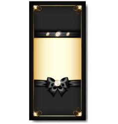 Greeting card black vector