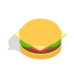 Hamburger icon isometric 3d style vector image