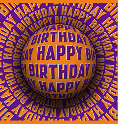 Happy birthday patterned sphere rolling on vector