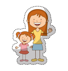 Happy family members icon vector
