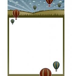 Hot air balloon poster vector