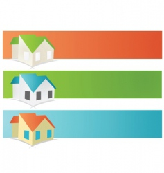 house banners vector image