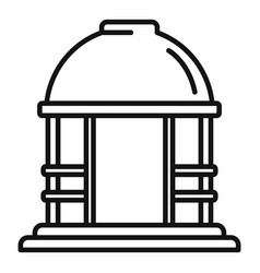 House gazebo icon outline style vector