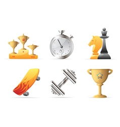 Icons for sport vector image