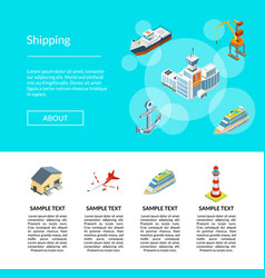 isometric marine logistics and seaport vector image