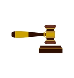 Judges gavel icon flat style vector image