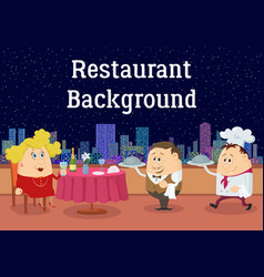 lady in open-air restaurant vector image