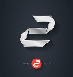Letter Z silver font Elegant Template for company vector image