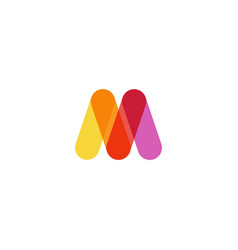M letter logo icon vector