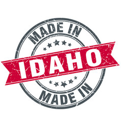 Made in idaho red round vintage stamp vector