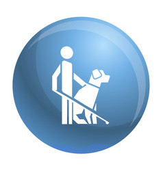 Man dog guide icon simple style vector