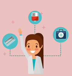 Medical people professional vector