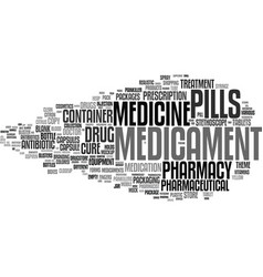 Medicament word cloud concept vector