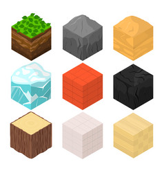 mine cubes signs 3d icon set isometric view vector image