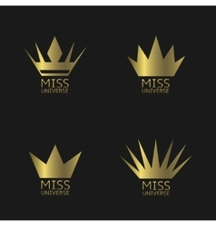 Miss Universe symbols vector image
