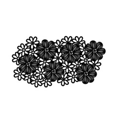 monochrome background with floral design vector image