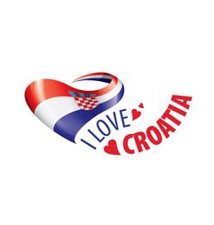 National flag croatia in shape a vector