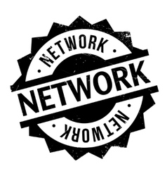 Network rubber stamp vector