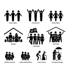 npo nonprofit organization foundation welfare set vector image