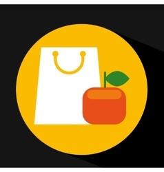 Package buying fruit orange fresh icon vector