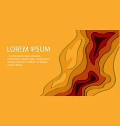 papercut multi layers 3d color texture vector image