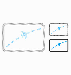 Plane route mesh carcass model and triangle vector