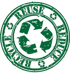 Reuse reduce recycle stamp vector image