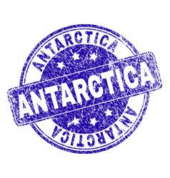 Scratched textured antarctica stamp seal vector