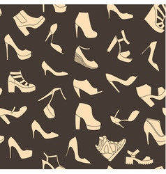 Seamless pattern made of fashionable shoes vector