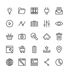 SEO and Marketing Outline Icons 3 vector image