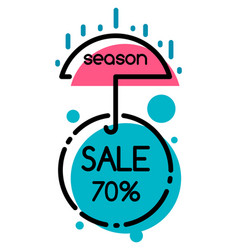 Shopping poster season sale and discount vector