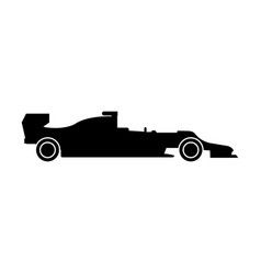 Silhouette of a racing car the black color icon vector