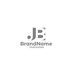 Simple jb logo design vector