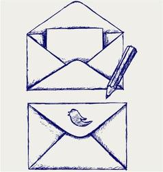 Sketch envelope vector image vector image