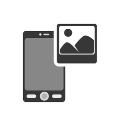 smartphone portable device vector image