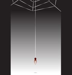 spider cobweb vector image
