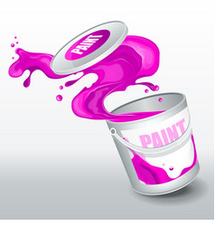 splash purple paint realistic 3d image vector image