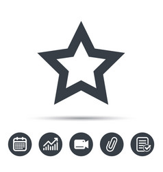 Star icon favorite or best sign vector