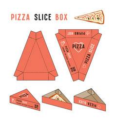 Stock design of box for pizza slice vector