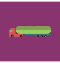 Tank car icon Trailer vector image