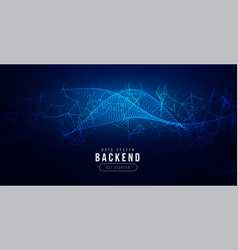 Technology digital background with network mesh vector