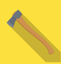The ax is marchingtent single icon in flat style vector