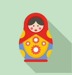 traditional nesting doll icon flat style vector image