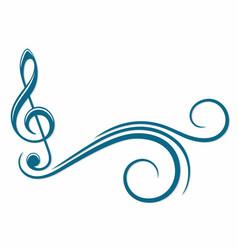Treble clef symbol vector