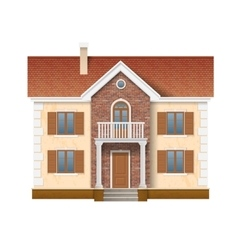 two story residential house vector image
