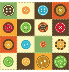 various sewing buttons vector image
