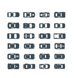 auto icons in flat style vector image vector image
