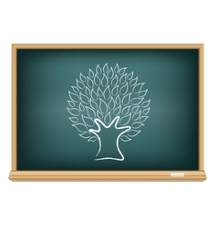 board tree vector image vector image