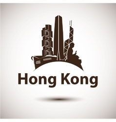 silhouette of Hong Kong vector image