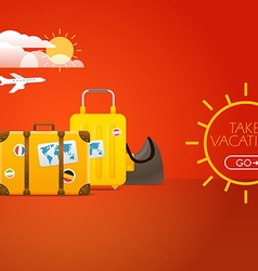 Travel bags Vacation concept with bags vector image